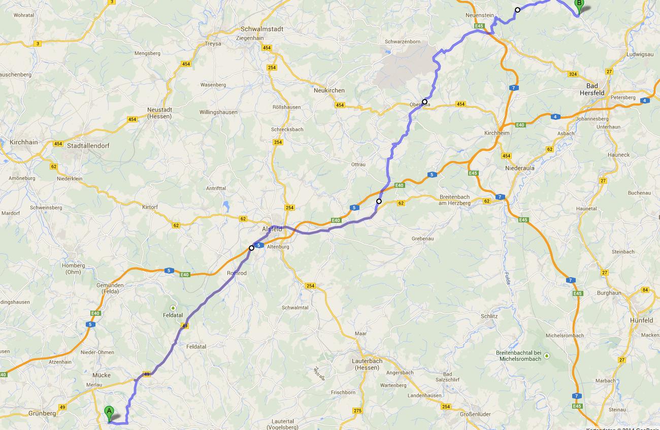 Diese Route habe ich mir zusammen gestellt und kann sie auch bis auf eine Kleinigkeit umsetzen.