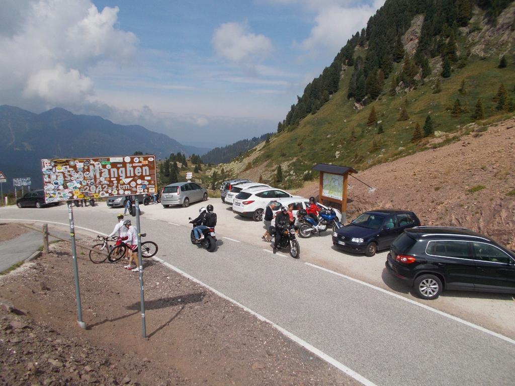 An der Passhöhe des Manghenpass, tolle Strecke