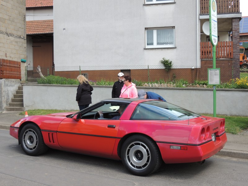 Ferrari mit unscharfer Farbgebung